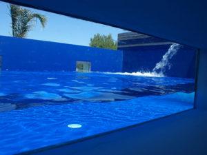 Paroi de verre pour piscine